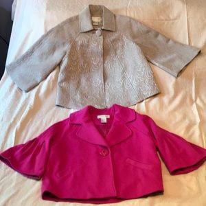 2 Newport News swing jackets GUC